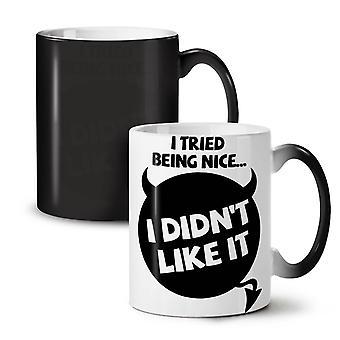 I tried being nice NEW Black Colour Changing Tea Coffee Ceramic Mug 11 oz | Wellcoda