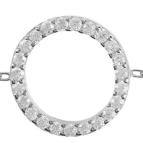 Latelita Halo Circle Bracelet 925 Silver Delicate Jewellery Bridesmaid Gifts