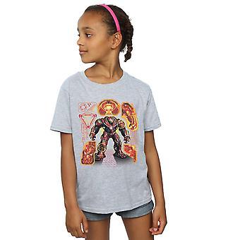 Marvel Girls Avengers Infinity War Hulkbuster Blueprint T-Shirt