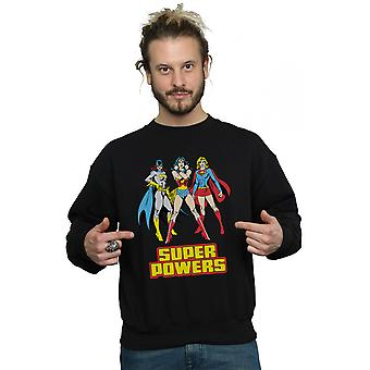 DC Comics Men's Wonder Woman Super Power Group Sweatshirt