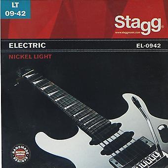 Stagg EL-0942 Nickel Light Electric Guitar String Set