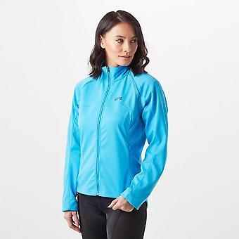 New Gore Women's C3 Gore Windstopper MTB Road Cycling Zip-Off Jacket Blue