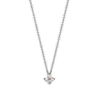 ESPRIT women's łańcuch naszyjnik srebrny cyrkonia Elicate kwiat ESNL93182A420