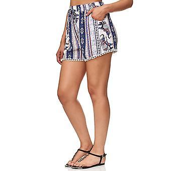 Ladies Shorts Elephant Lace Floral Summer Pants Cotton Stretch Waistband Beach