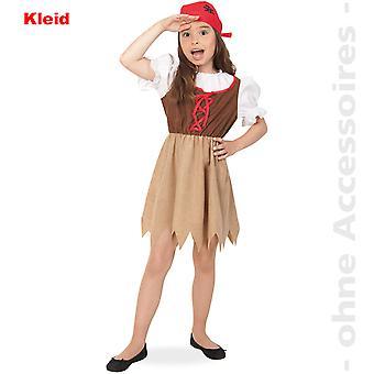 See-Piratin Kostüm Kinder Piratenkostüm Seeräuberin Kinderkostüm