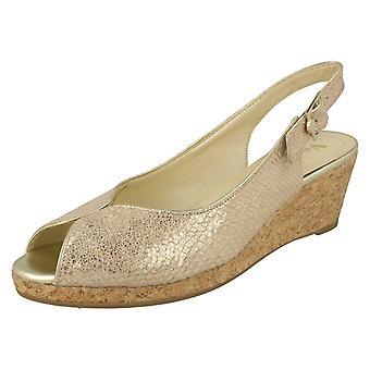 Senhoras Van Dal cortiça Cunha sandálias Gable