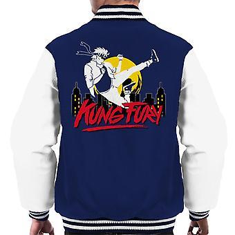 Kung Fury fliegen Kick Männer Varsity Jacket
