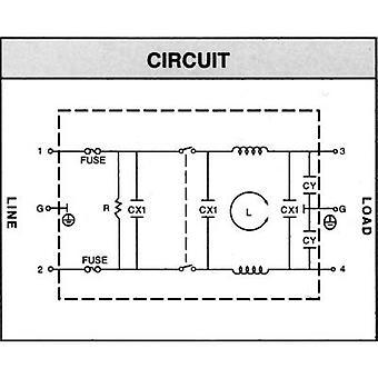 Yunpen YQ01A1 Line filter + IEC socket, + switch, + 2 fuses 250 V AC 1 A 10.5 mH (L x W x H) 68 x 52.5 x 61 mm 1 pc(s)