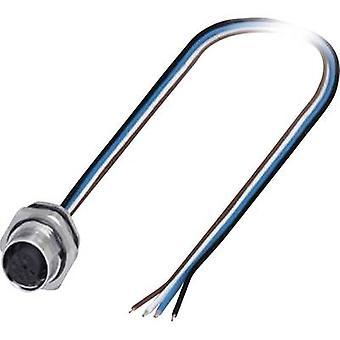 Phoenix kontakt 1419632 sensor/aktuator innebygd kontakt M12 socket, innebygd 0,50 m nr. av pinner (RJ): 4 1 PC (er)