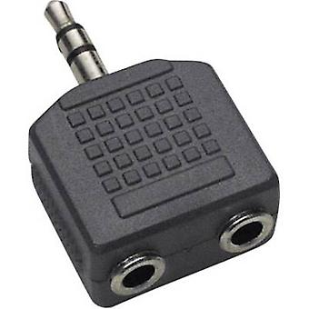 BKL Electronic 1102014 Jack Audio/Phono Y Adapter [1 x Klinkenstecker 3,5 mm - 2 x Buchse 3,5 mm] schwarz