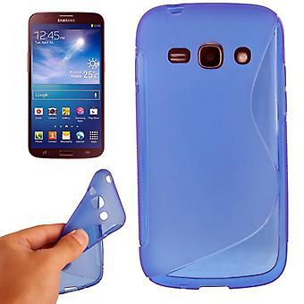 Tapauksessa TPU suojakotelo mobiili Samsung Galaxy ACE 3 S7272 sininen