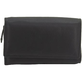 フリードリヒ ・革財布レディース ライン ナッパ革黒 RFID 保護