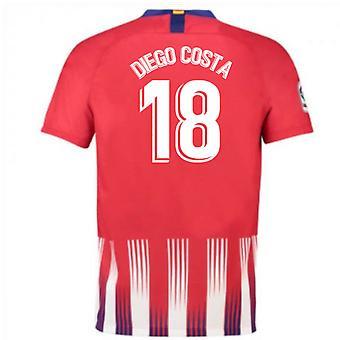 2018-2019 Atletico Madryt Strona główna koszulka piłkarska Nike (Diego Costa 18) - dla dzieci