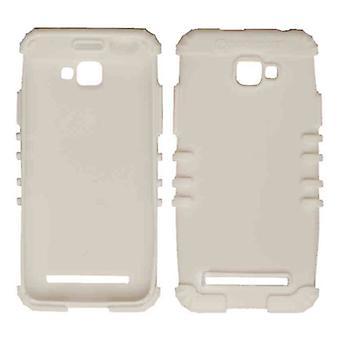 Rocker Series Silicone Skin Protector Case for Blu D410A / Dash 5.0 (White)