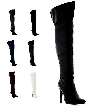 Womens Thigh High Platform Stretch High Heels Evening High Heels Boots UK 3-9