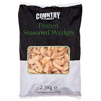 Country Range Frozen Seasoned Potato Wedges Skin On
