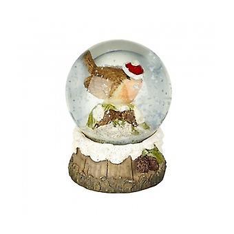Heaven Sends Christmas Robin Snowglobe