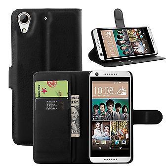 HTC Desiderio 650 Portafoglio Caso NERO