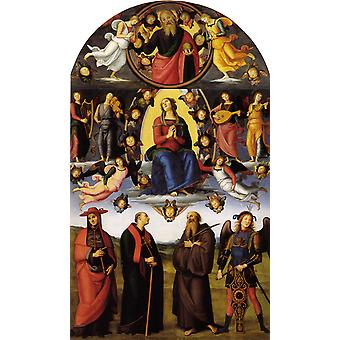 The Assumption of the Virgin with Saints, Pietro Perugino, 60x40cm