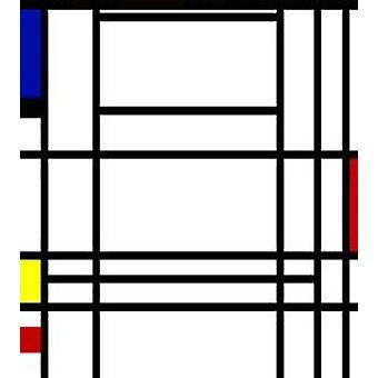 تكوين 10، بيت موندريان، 50x60 سم