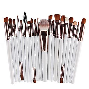 Multi pakke med makeup børster-rosé med hvit aksel
