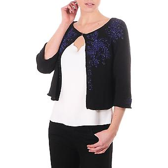 By Malene Birger Heavy Cotton Knitted Swing Cardigan With Beading