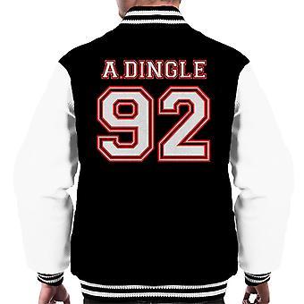 A Dingle 92 Emmerdale Sports Number Men's Varsity Jacket