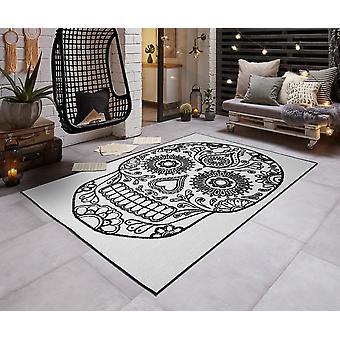 Skull modern in - & Outdoorteppich flat fabric turn carpet CALAVERA