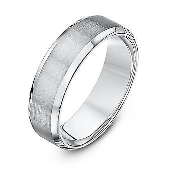 Tähti vihkisormuksista Palladium 950 valo taulu tuomioistuin Matt kiillotettu puolin 6mm Wedding Ring