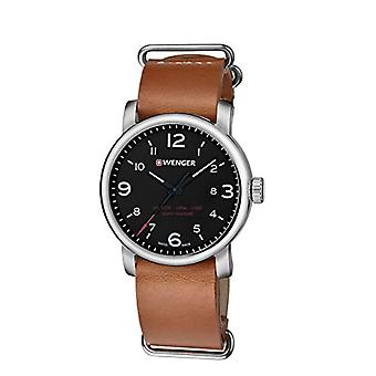 Wenger Mens Quartz Analog leather strap 01.1041.136