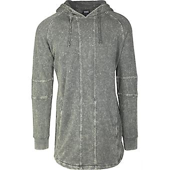 Urban classics men's Hoodie Terry acid washed long shaped