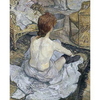 De toilette, Henri de Toulouse-Lautrec, 50x40cm