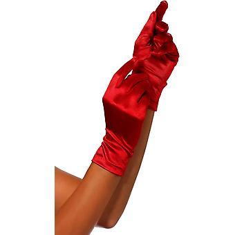 Red Satin Gloves