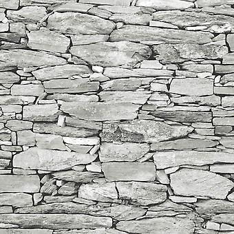 Brick Effect Wallpaper Slate Stone Rustic Weathered Realistic 3D Debona