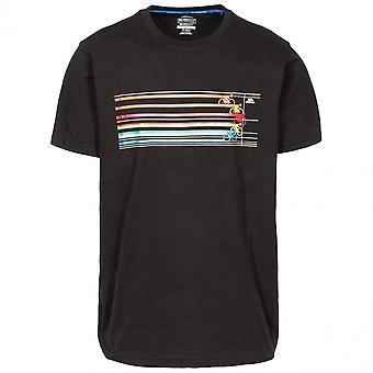 Overtreding Mens cyclus snelle droge korte mouw grafische T Shirt