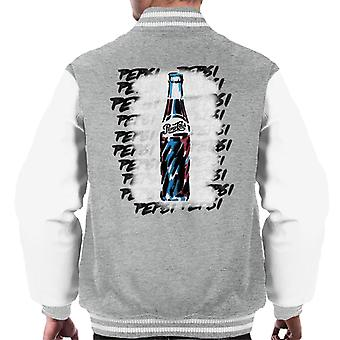 Pepsi Retro Bottle Graffiti Men's Varsity Jacket