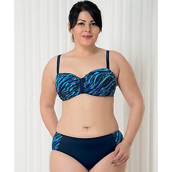 Aqua Perla - Womens -deep Blue- Blue Wave- Plus Size- Bikini Bottom