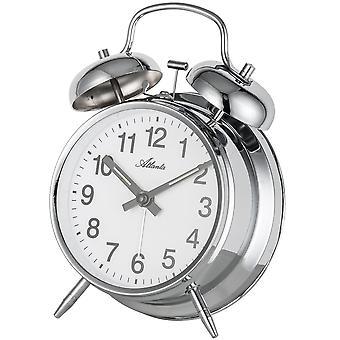 Nostalgi vækkeur twin Bell alarm clock mekaniske selvlysende hænder