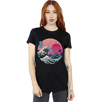 Vincent Trinidad vrouwen de grote retro Wave vriendje fit T-shirt