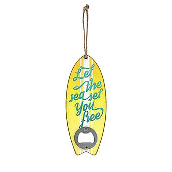 Grindstore Let The Sea Set You Free Surf Board Shaped Bottle Opener
