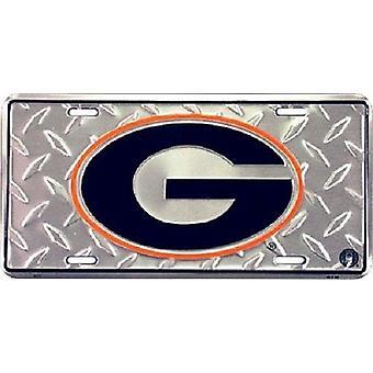 "Georgia Bulldogs NCAA ""Diamond"" License Plate"