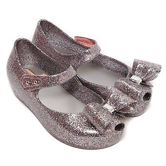 Melissa Shoes Mini Ultragirl Bow 19 Shoe, Multi Glitter
