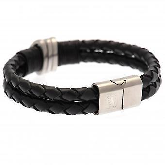 Aston Villa Leather Bracelet