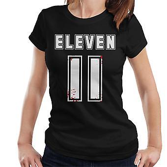 Muukalainen asiat yksitoista numero Bloodsplatter naisten T-paita