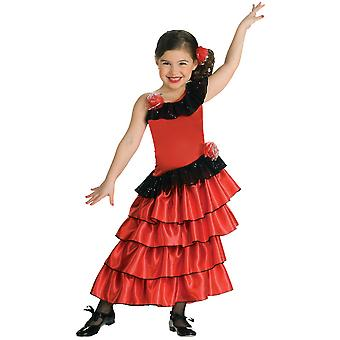 Spanish Princess Flamenco Dancer Mexico Mexican Salsa Girls Costume