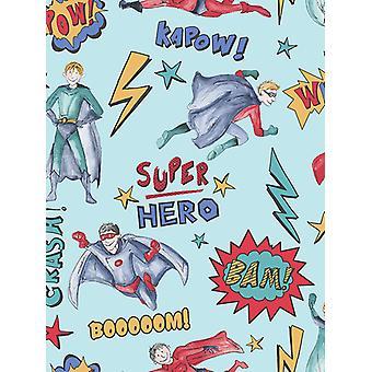 Superhero behang blauwe Arthouse 696200
