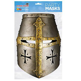Knight's Helmet Historical Single 2D Card Party Fancy Dress Mask