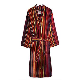 Bown of London Regent Stripe Dressing Gown - Orange/Purple/Red
