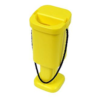 Square Charity Money Collection Box - Yellow