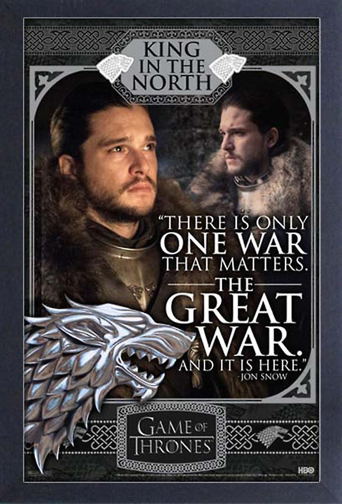 Poster-Studio B-spel van tronen-Jon Snow-grote oorlog 36 x 24